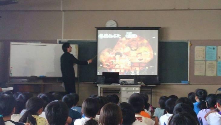 尾島小学校ねぷた訪問指導授業