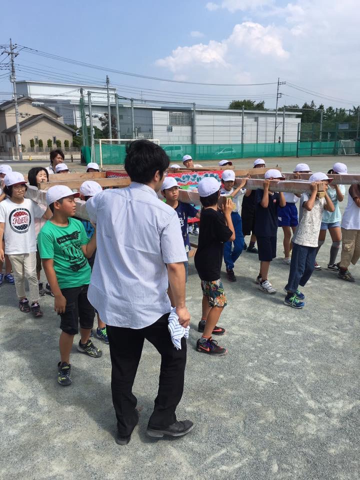 尾島小学校ねぷた指導訪問 ➆