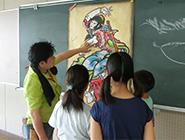 第3回尾島小学校ねぷた指導