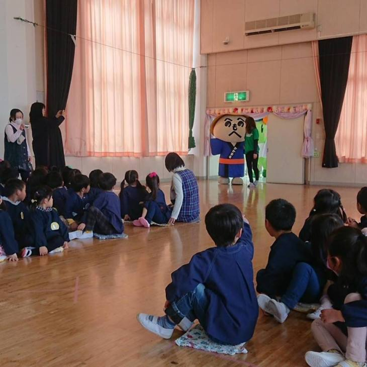 宣伝部長 かかまるくん IN 太田市立綿打幼稚園