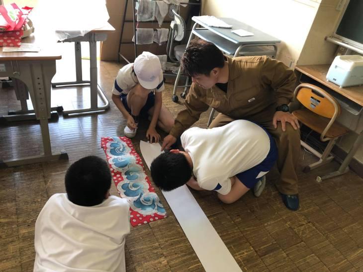 第2回 尾島小学校ねぷた訪問指導