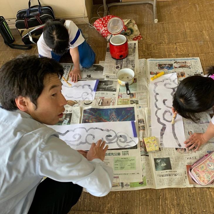 第3回 尾島小学校ねぷた訪問指導